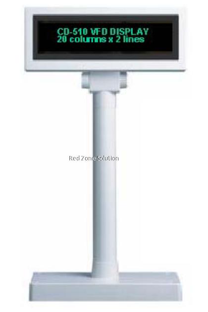 Partner Tech CD-7220 Customer Display - 2 line
