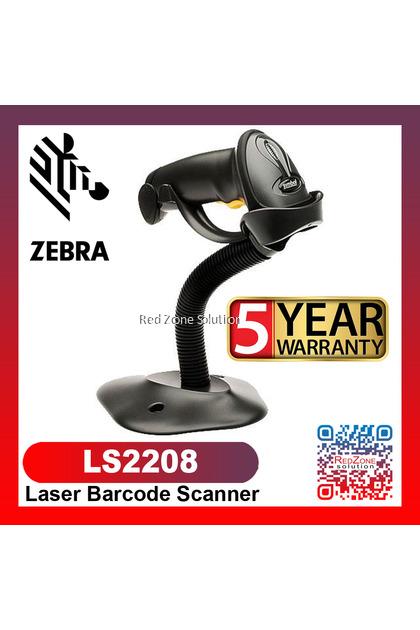 Zebra Symbol LS2208 Laser Barcode Scanner - 5 years warranty