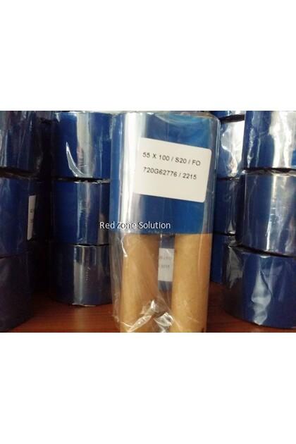 S20 Wax barcode ribbon 55*100meter
