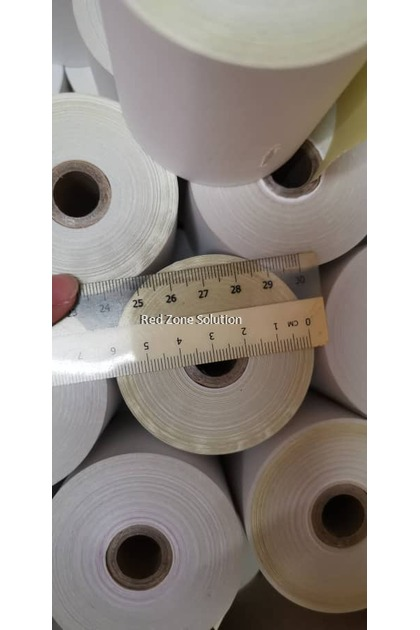2ply Dot Matrix Paper Roll for Receipt Printer : 76mm x 65mm : Per Roll