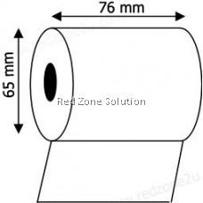 Dot Matrix Paper Roll for Receipt Printer : 76mm x 65mm : Per Roll