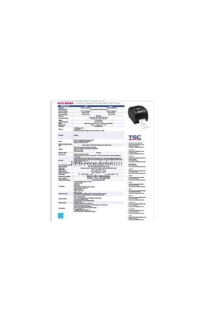 TSC G210 Desktop Barcode Printer