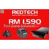 RedTech POS System Package : Software + Receipt Printer + Scanner + Cash Drawer