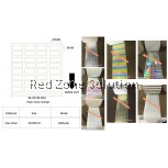 Water Proof Plain Color Sticker | Size : 22X09MM  COLOR :  SILVER , PINKY , GOLD , P.WHITE , CLEAR ,LASER ,P4COLOR 28METER