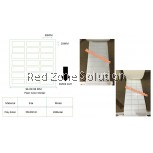 WATER PROOF PLAIN COLOR STICKER SIZE: 30x20mm P.white , Clear 28meter