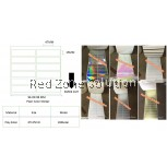 WATER PROOF PLAIN COLOR STICKER SIZE: 47x15MM COLOR : SILVER , PINKY , GOLD , P.WHITE , CLEAR ,LASER, 28METER