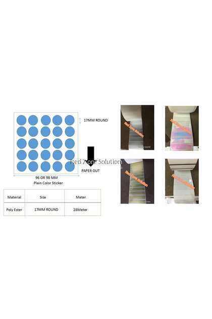 17mm Round Shape Water Proof Label Sticker, Color : Silver, Pink, Gold, White, Transparent, Laser