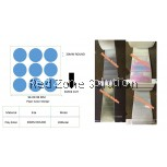 WATER PROOF PLAIN COLOR STICKER  SIZE:  30MM  COLOR :  SILVER , PINKY , GOLD , P.WHITE , CLEAR ,LASER