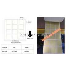 GOLD Water Proof Plain Color Label Sticker 30*30mm