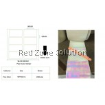Pink 90x40mm Water Proof Plain Color Label Sticker
