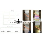 Water Proof Plain color Sticker 90X50mm GOLD ,PINKY,CLEAR ,,SILVER 28METER/ROLL