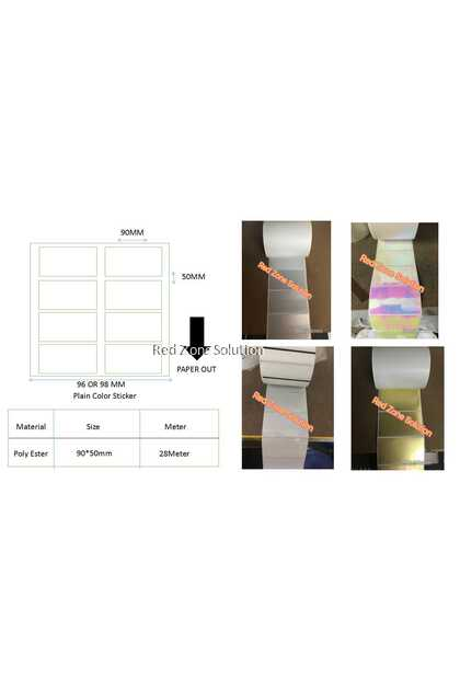 90mm x 50mm Waterproof Label Sticker, Color : Gold, Pink, Silver, Transparent