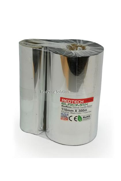 REDTECH EUROWAX 110*300m PREMIUM QUALITY Wax Barcode Ribbon