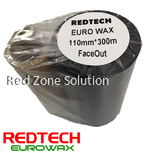 REDTECH EUROWAX - PREMIUM QUALITY WAX BARCODE RIBBON 110*300METER