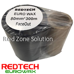 REDTECH EUROWAX -  PREMIUM QUALITY WAX BARCODE RIBBON 80*300METER