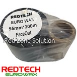 REDTECH EUROWAX -  PREMIUM QUALITY WAX BARCODE RIBBON 55*300METER