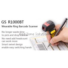 GeneralScan GS-R1000 BT Ring Bluetooth Barcode Scanner -Support Android & iOS