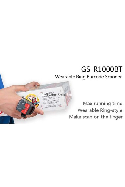 GeneralScan GS-R1000BT-HP Ring Bluetooth Barcode Scanner -Support Android & iOS