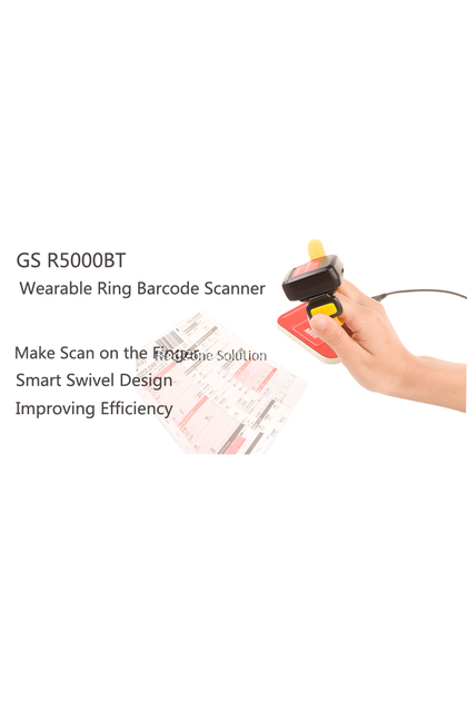 GeneralScan GS R5000BT 2D Imager Bluetooth Ring Barcode Scanner