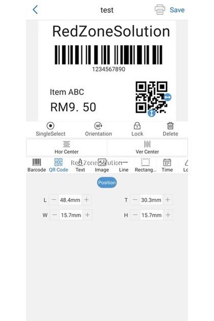 RedTech LP830 Mobile Label Printer