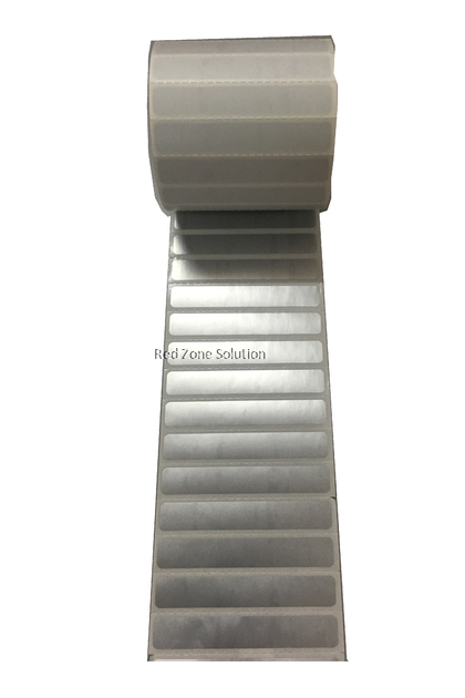 65mm x 10mm Waterproof Label Sticker, Color : Silver