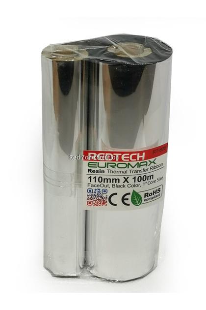 REDTECH EUROWAX 110*100m PREMIUM QUALITY Wax Barcode Ribbon