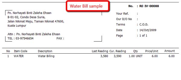SQL Building Management System-Water Bill